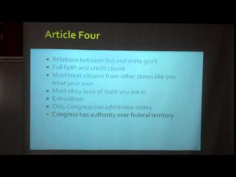 Article IV, VI, & VII Lecture