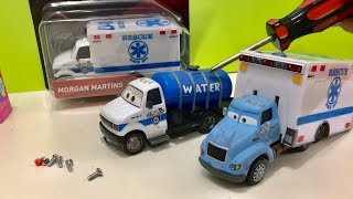 Disney Cars 3 Toys What's Inside SUPER CHASE Morgan Martins? Broken or wrong head mr drippy