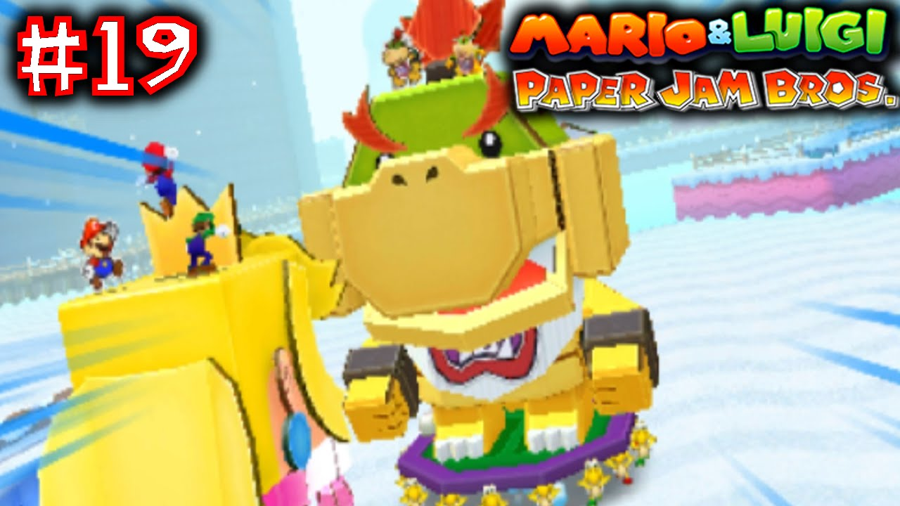 Mario Luigi Paper Jam Bros Part 19 Papercraft Peach Vs Papercraft Bowser Jr