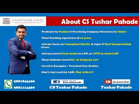 Company Law Fast Track Revision - Season I