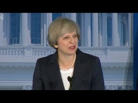 UK PM May in US for meeting with Trump