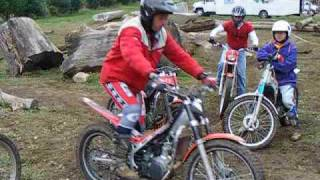 How to hop the front wheel - Motorcycle Trials