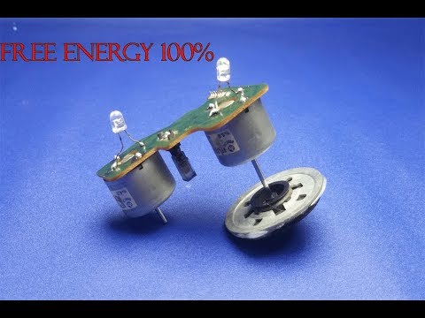 Free energy 100% light bulbs  wtih motor - New idea  2018