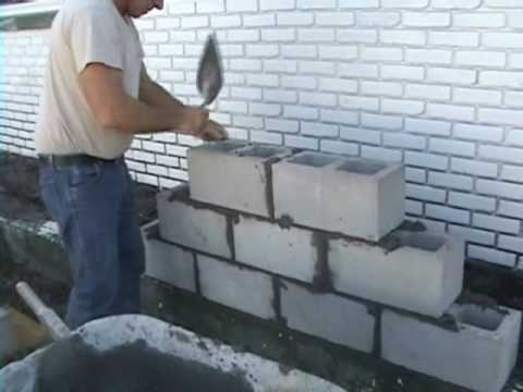EZ Concrete, Cement, Cinder Block and Brick Laying using Joint Spacers