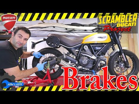 Ducati Scrambler Brakes explained, caliper, brake pads, bleeding