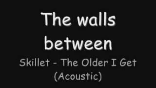 Skillet The Older I Get Acoustic Lyrics
