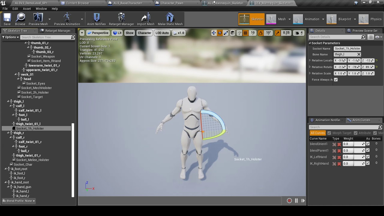 UE4 Character Interaction integration with Advanced Locomotion System V3  Tutorial PART1