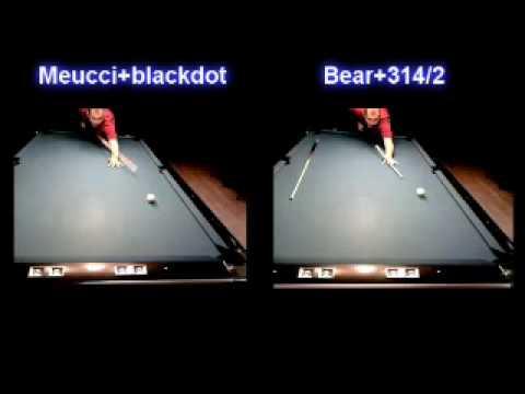 Meucci Black Dot Bullseye shaft and 314/2 shaft - YouTube