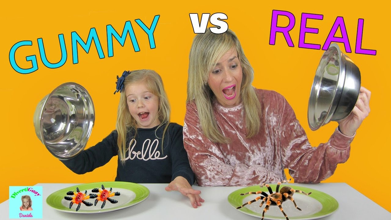 Chuches Vs Realidad Challenge Real Vs Gummy