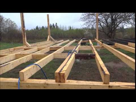 Time lapsed video of building a house off the grid on a ...