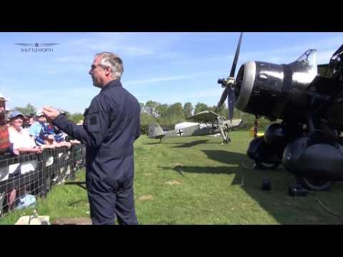 The Westland Lysander with Shuttleworth Pilot Frank Chapman