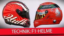 Formel 1 Helm-Technik erklärt: Über Kosten, Sicherheit & Tesafilm [2018]