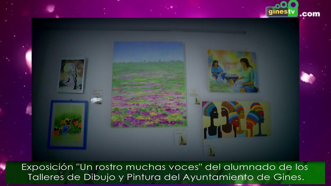Exposición de pintura 'Un rostro, muchas voces' del alumnado de Dibujo y Pintura de Gines