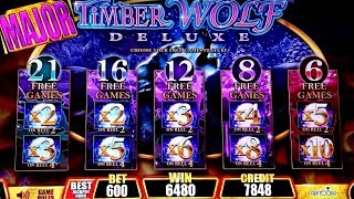 Timber Wolf Deluxe Slot $6 Bet Bonus |  Wicked Winnings Slot Bonus $6 Bet | Miss Kitty Bonus $6 Bet