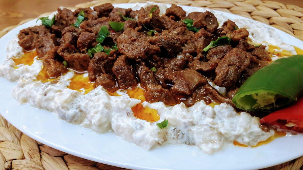 Alinazik Tarifi Etli (Antep Usulü) / Ali Nazik Nasıl Yapılır / Alinazik Kebap / Antep Yemekleri