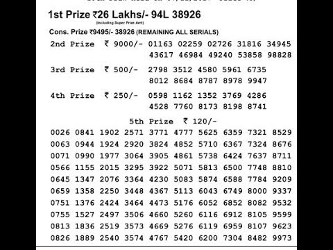 sikkim state lottery result     today