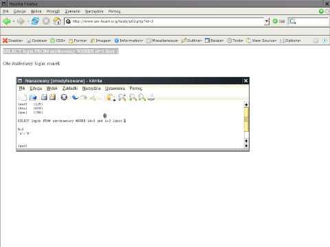 Część #2: Atak SQL Injection Z Użyciem Union Select