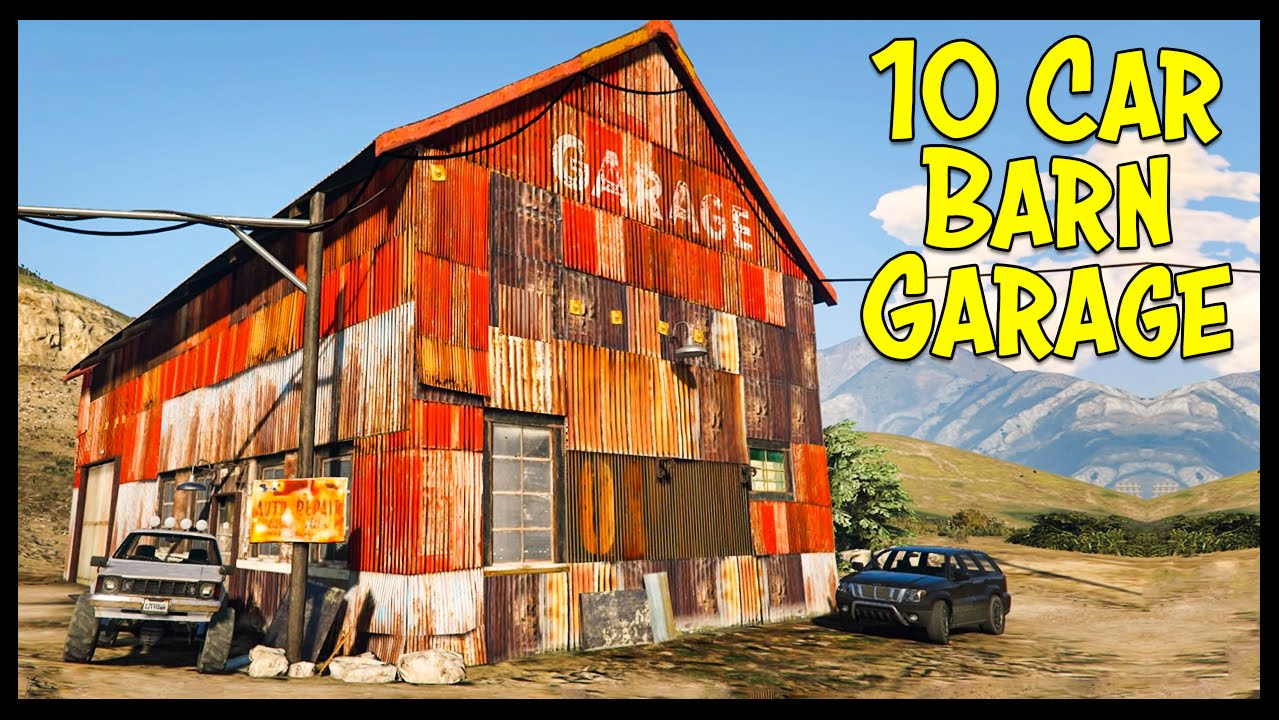 10 car barn garage concept locations for a blaine for Car barns garages