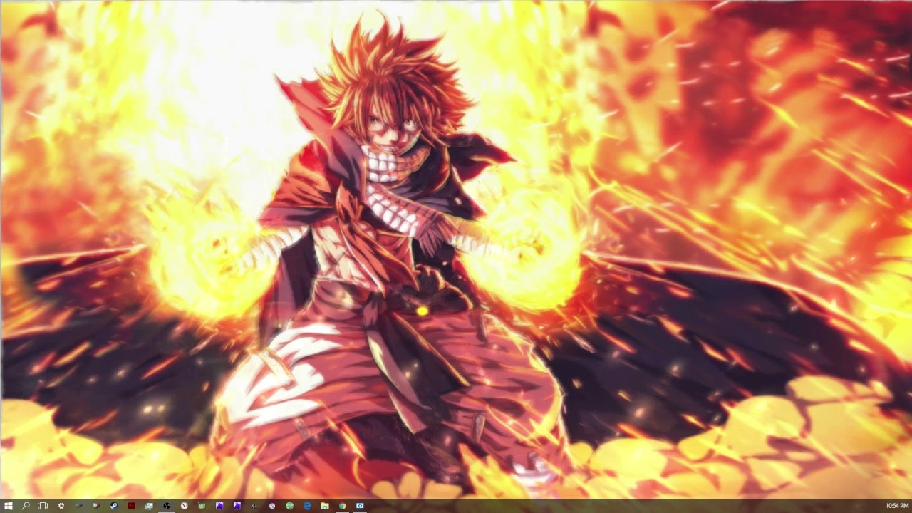 Girl Gaming In Space Live Wallpaper Ft Natsu Dragneel Live Wallpaper Youtube