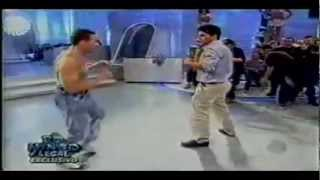 VAN DAMME - Imitates Stallone, Schwarzenegger & Seagal (restored version)