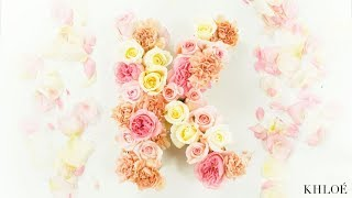 HACK IT LIKE KOKO: How to Make a Floral Letter