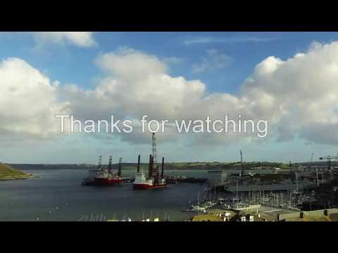 Falmouth Docks Timelapse 13 01 2017