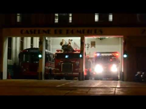 MONTREAL FIRE TRUCK 223 RESPONDING FROM STATION 23