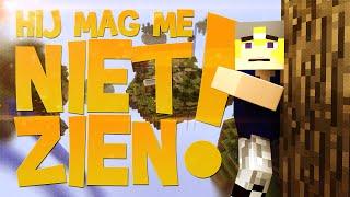 Hij mag me niet zien! - Minecraft Skywars #2