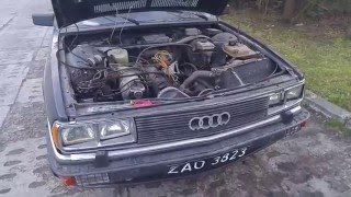 Audi 200 C2 typ 43 First running after 20 years part.3