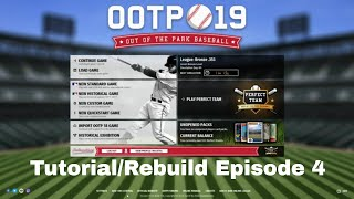 Out of the Park Baseball Tutorial/Rebuild Episode 4 - Disabled List, Rehab Assignments & Waiver Wire