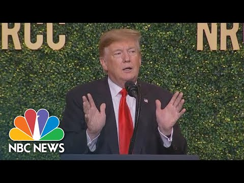 President Donald Trump Mocks Biden During NRCC Speech | NBC News