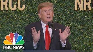 President Donald Trump Mocks Biden During NRCC Speech | NBC News