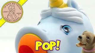 Unicorn Squeezable Soft Foam Popper, Butch Gets Hit!