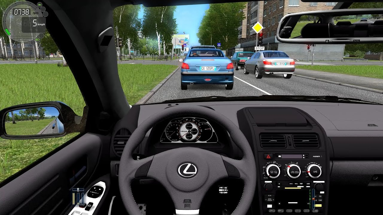 city car driving - lexus is300 - youtube