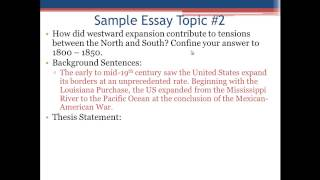 APUSH Review: The Introductory Paragraph and Thesis Statement(, 2013-12-08T02:25:55.000Z)
