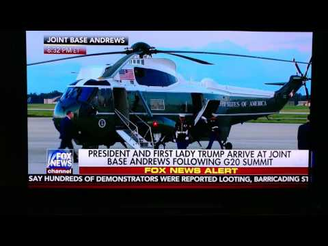 That's called respect - Trump helps Marine w/cover