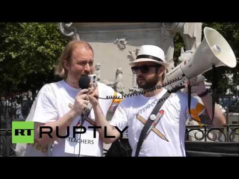 Slovakia׃ Teachers protest in Bratislava as Slovakia begins EU Council presidency