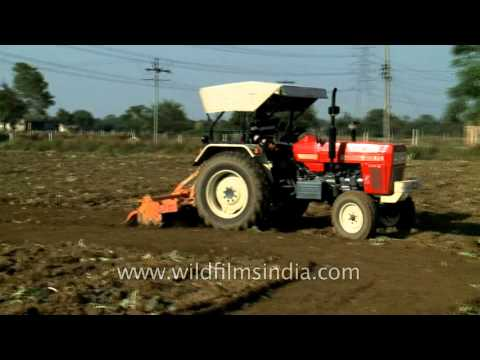 Swaraj 855 FE tractor being used for ploughing field - Delhi