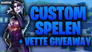 [live]custom spelen met kijkers doe ook mee+grote giveaway!! Fortnite battle royale