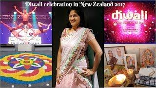 दिवाली व्लॉग | Diwali Vlog 2017 | Diwali Celebration in Christchurch, New Zealand A day in my life