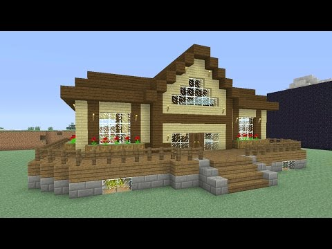 minecraft-tutorial:-how-to-make-an-awesome-wooden-survival-house-#5-(ash#27)