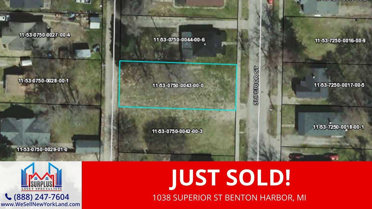 1038 Superior St Benton Harbor, MI - Wholesale Land For Sale Michigan - www.WeSellNewYorkLand.com