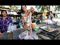 Thai Food Tour of Sichon สิชล CURRY EEL and UNTOUCHED Coastal Beach Village in Thailand