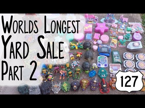 Route 127 Worlds Longest Yard Sale 2019 - Part 2 - The Haul - YouTube