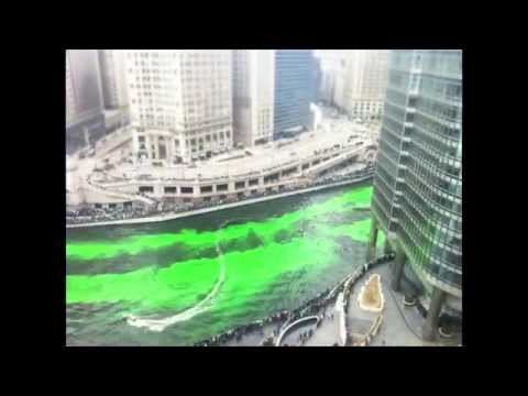 Timelapse of the Chicago River Dyed Green 3/12/2011