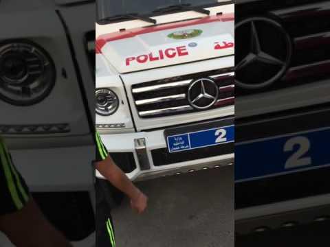 Emirates police cars.  شرطة عجمان