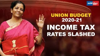 Union Budget 2020   Income tax rates cut for earnings up to Rs 15 lakh per year