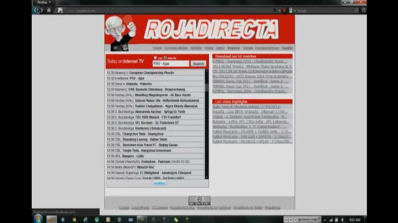 How To Whatch Live Sports Online Free Rojadirecta Youtube