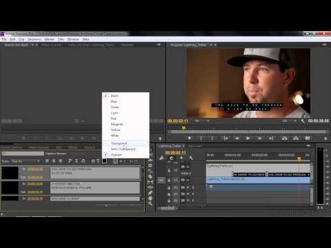 Adobe Premiere Pro CC Tutorial   Importing Or Adding Closed Captions To Projects