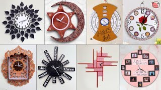10 Creative DIY Wall Clock Ideas !!! Best Out of Waste | Cardboard Craft